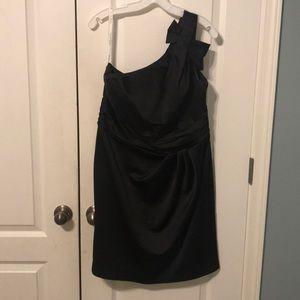 David's Bridal Black Satin Style 84333 Dress